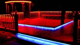 Video LED RGB Flex-Strip Rope Light under railing around deck, stair treads & gazebo download MP3, 3GP, MP4, WEBM, AVI, FLV Agustus 2018