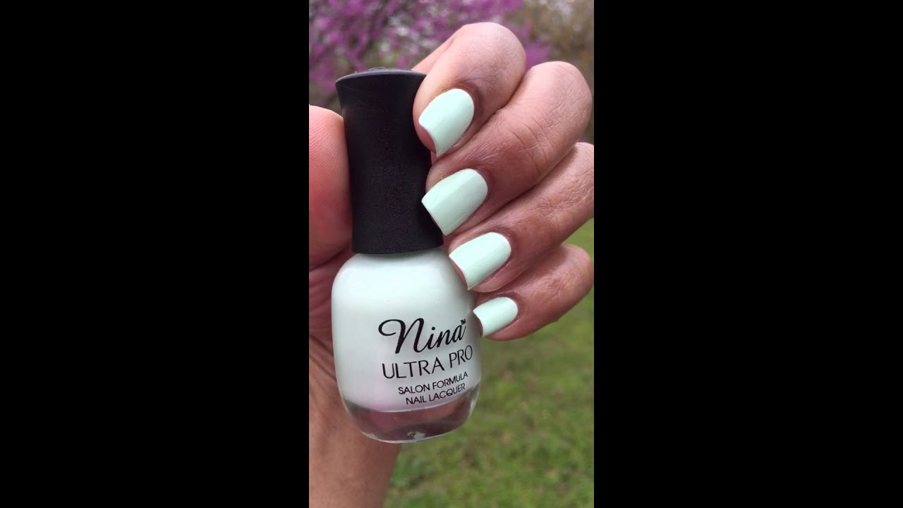 Nail of the Day featuring Nina Ultra Pro Hint off Mint - YouTube