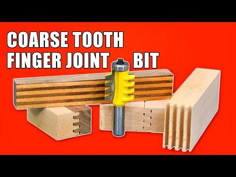 Reversible Finger Joint Router Bit - Coarse Tooth Finger Joints
