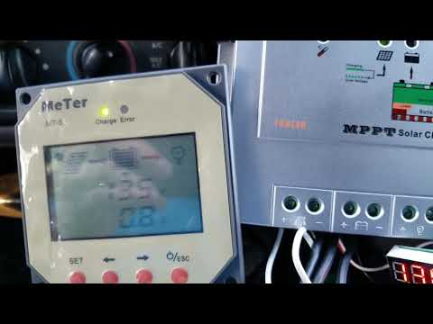 Maintain car/RV battery with laptop power supply & solar controller