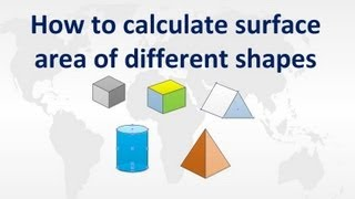 How to calculate surface area of different shapes