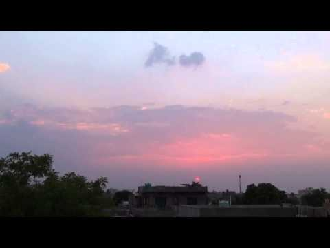 Sunset and Evening Sky at Amravati  India 11 May 2015 HD video