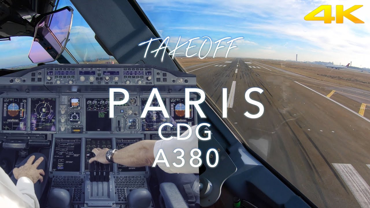 PARIS | A380 TAKEOFF 4K