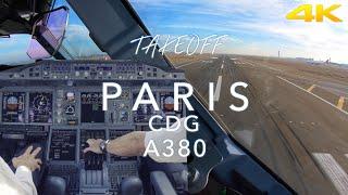 PARIS | A380 TAKEOFF 4K