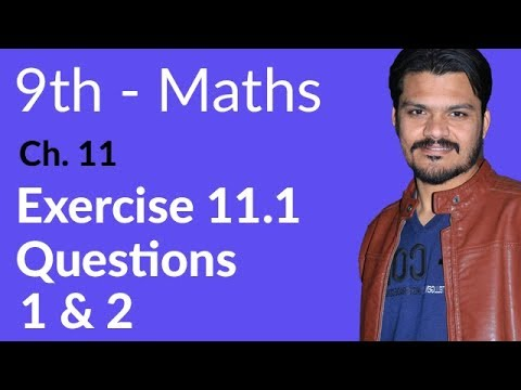 9th Class maths Chapter 11,lec 1,Exercise 11.1 Question no 1 & 2-Chapter 11 Congruent Triangles