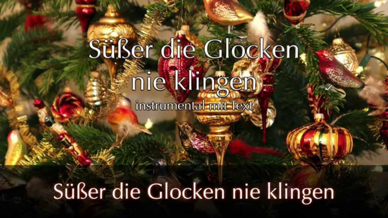 Süsser die Glocken nie klingen - Weihnachtslied mit Text ...