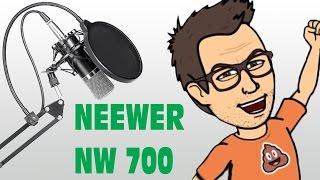 neewer nw 700 microfono a condensatore unboxing e testing ita