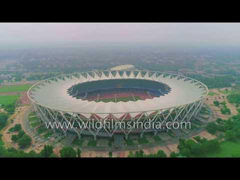 Delhi Stadium from high above - Jawaharlal Nehru Stadium