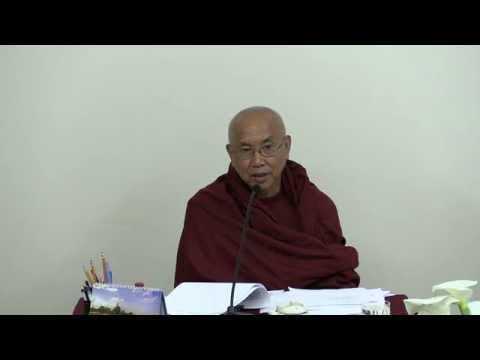 May 24, 2015 Visuddhimagga (18 end) by Venerable Sayadaw U Jotalankara at TDS Dhamma Class
