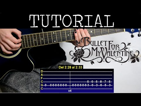 Cómo tocar Tears don't fall de Bullet for my Valentine (Tutorial Guitarra) / How to play