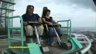 SCARY EDGE COASTER RIDE & SKYWALK. CROWN REGENCY, CEBU. PHILIPPINES