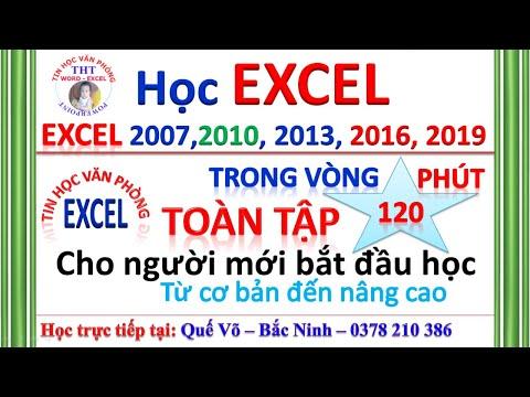 Tự học EXCEL CƠ BẢN cấp tốc TOÀN TẬP. Học EXCEL CẤP TỐC FULL | Tin học văn phòng excel