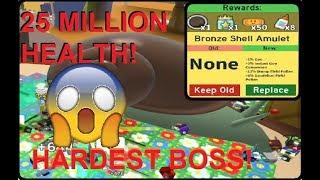 DEFEATING THE SNAIL BOSS!! 25 MILLION HEALTH! HARDEST BOSS! | Roblox Bee Swarm Simulator