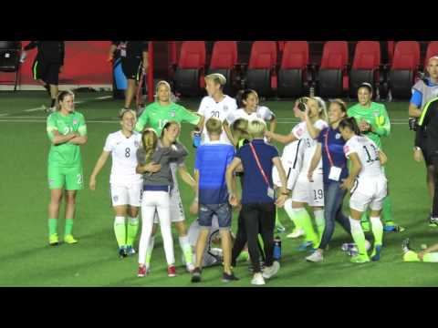 Cute moments between players / World Cup 15 USWNT vs China
