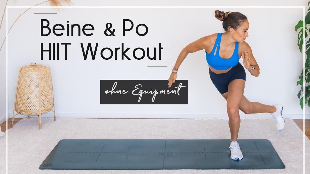 Beine & Po HIIT WORKOUT   schlanke, athletische Beine   perfekt für Läufer