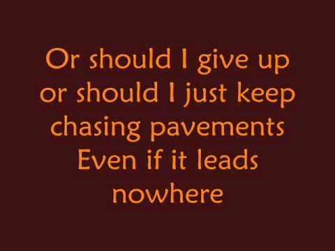 Adele  Chasing Pavements  Lyrics