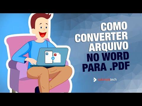 Converter arquivo .doc para .pdf sem programas