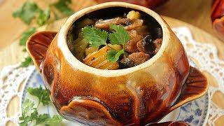 Жаркое из свинины с картошкой / Вкусное жаркое в горшочках