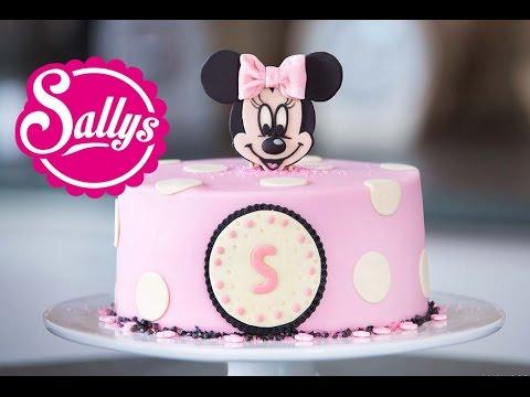 Minnie Mouse Torte / Motivtorte / Fondant Tutorial / mit Aufsteller / Sallys Welt