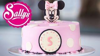 Minnie Mouse Torte / Motivtorte / Fondant Tutorial / mit Aufsteller