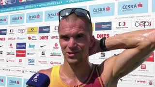 Jakub Holuša po 5000 m na MČR 2018