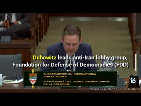 FDD's Mark Dubowitz Advocating for Iran Sanctions and Regime Change in Canadian Parliament