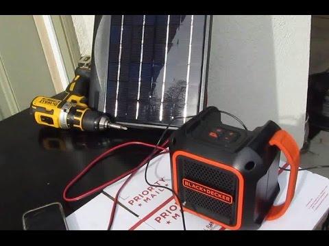 Tool hack & Review: Solar Powered Black & Decker 20V Bluetooth speaker BDBTS20