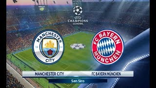 Manchester City vs Bayern Munchen | UEFA Champions League 2018 | PES 2018 Gameplay HD
