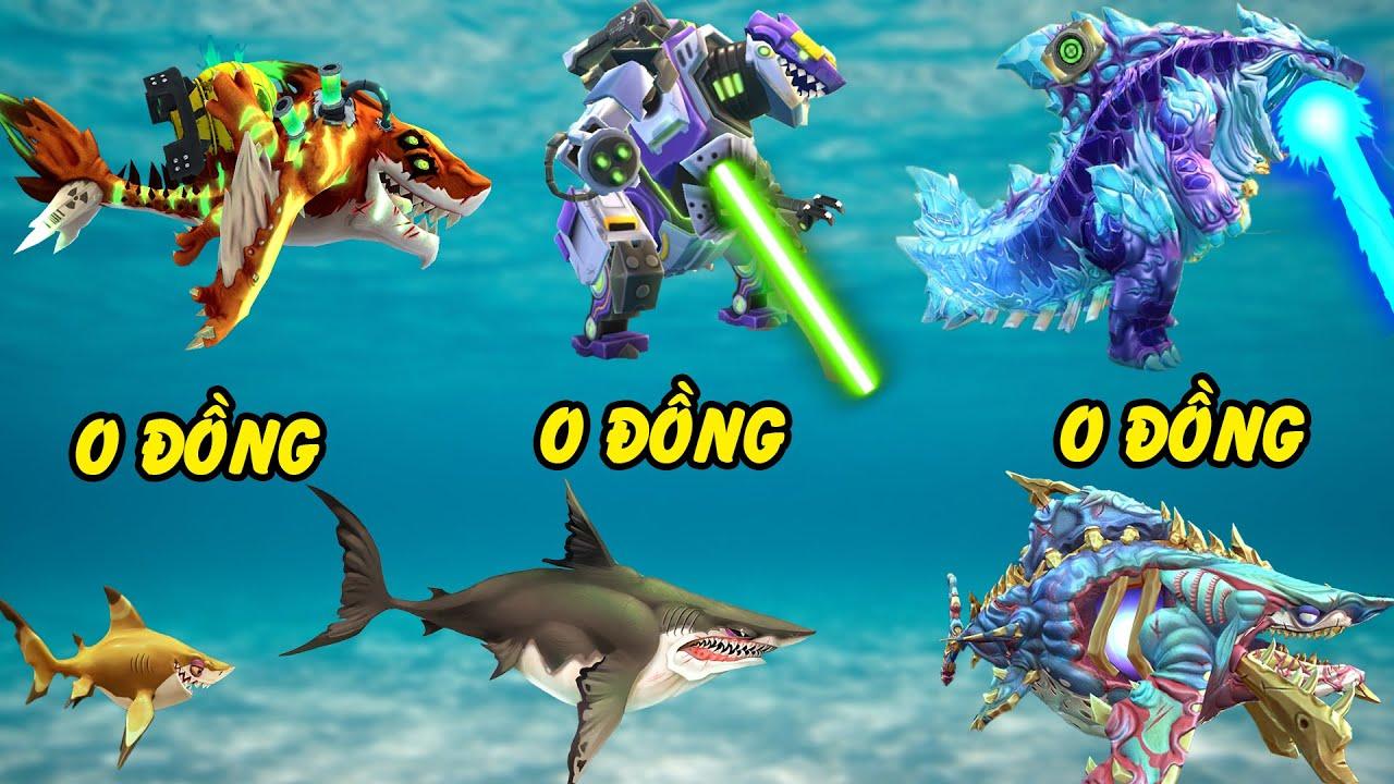 Mua tất cả Cá mập quái vật Hungry Shark game điện thoại 0đ - Chúa tể Shin  Sharkjira lộ diện