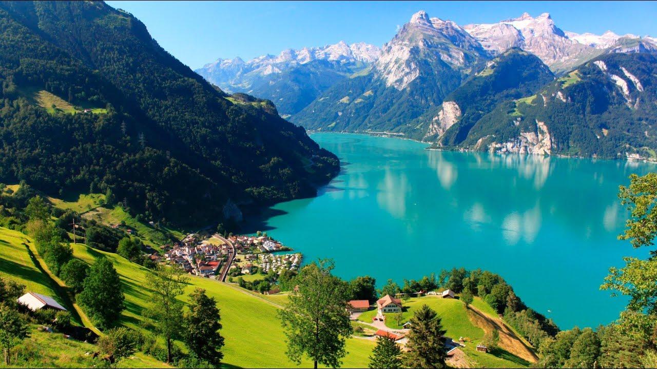 Отдых в Швейцарии. Поездка по улицам Женевы 1 Holidays in Switzerland. Ride through the streets