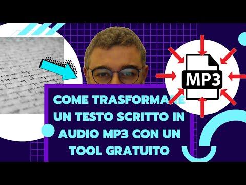 Come trasformare un Testo scritto in audio Mp3 con un Tool gratuito