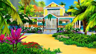 'Gone Coastal' (Sulani Beach House) 🌴🌺 || The Sims 4 Speed Build (No CC)