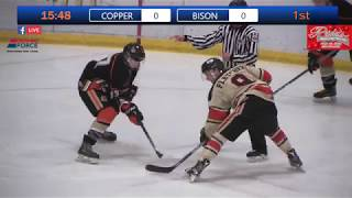 Game 9 of the Junior B Provincials Bison vs Copper Heads