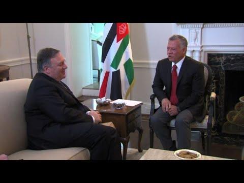 US secretary of state meets with Jordan's King Abdullah II