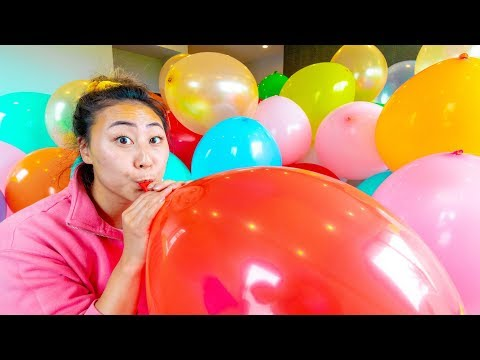 I FILLED MY BOYFRIEND'S ROOM WITH BALLOONS!! (DON'T TELL HIM)