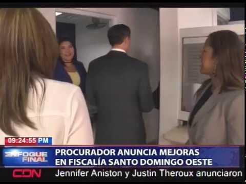 Procurador anuncia mejoras en Fiscalía Santo Domingo Oeste