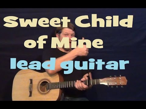 Sweet Child O' Mine (Guns N' Roses) Lead Guitar Solo Licks How to Play Tutorial with TAB
