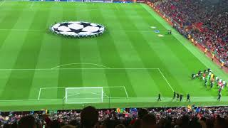 Manchester United vs FC Basel players entrance and champions league song!