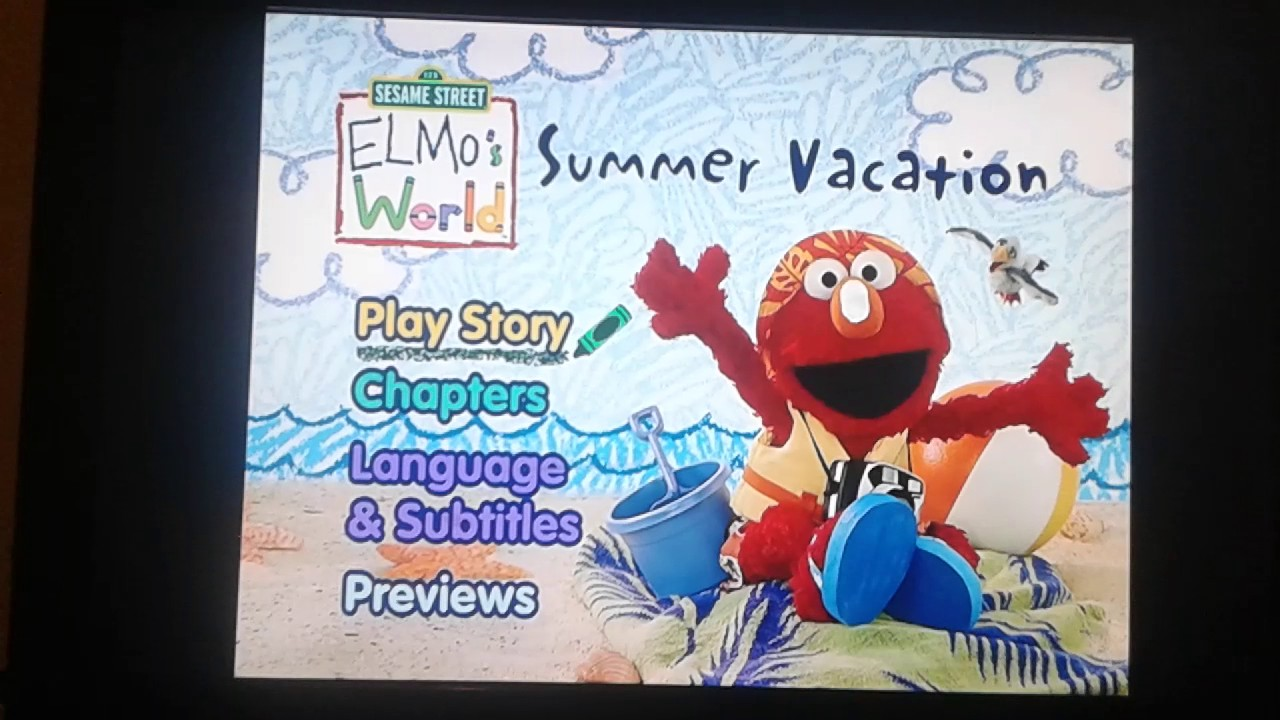 Elmos World Summer Vacation Menu Walkthrough