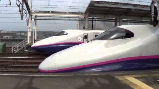 恐怖すら覚える新幹線の超高速通過 @那須塩原
