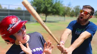 Can I Break An Official MLB Baseball Helmet? IRL Baseball Challenge