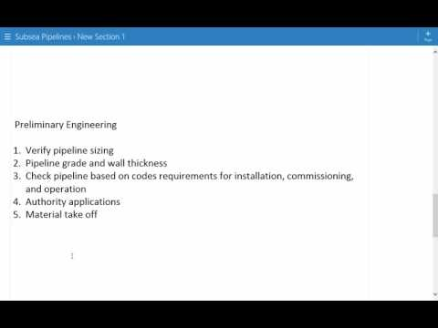 Subsea Pipeline Design - Introduction and Design Stages - Lecture 1
