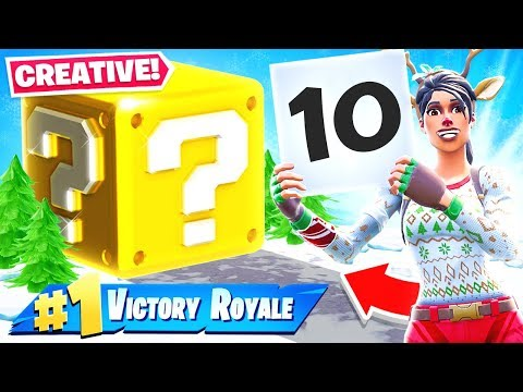 GIANT Scorecard LUCKY BLOCKS *NEW* Creative Game Mode in Fortnite Battle Royale