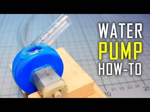 How To Make A Water Pump | Mini Motor Water Pump At Home