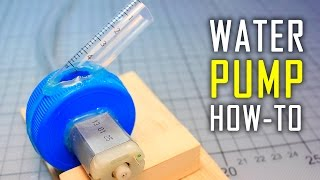 How To Make a Water Pump  Mini Motor Water Pump At Home
