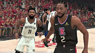NBA 2K20 Gameplay - Brooklyn Nets vs Los Angeles Clippers Game 7 NBA Finals - NBA 2K20 PS4