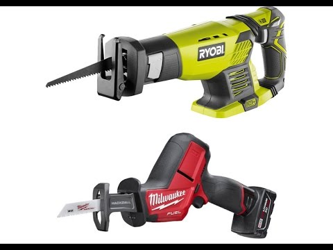 Ryobi Reciprocating Saw 18v Vs Milwaukee M12 Hackzall