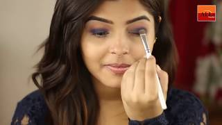 Glam with Navy Blue Smokey Eyes Makeup Tutorial for beginners