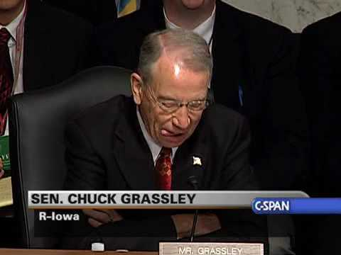 Sen. Charles Grassley Jokes After Protest Disrupt Hearing