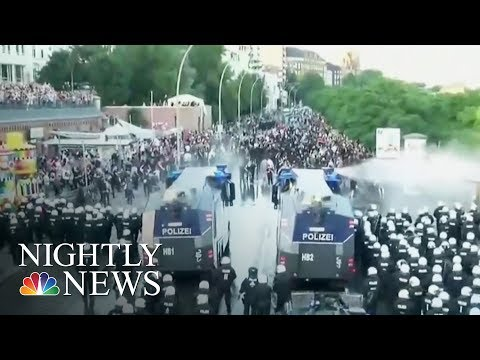 Mass Protests Turn Violent Outside G-20 Summit In Germany | NBC Nightly News